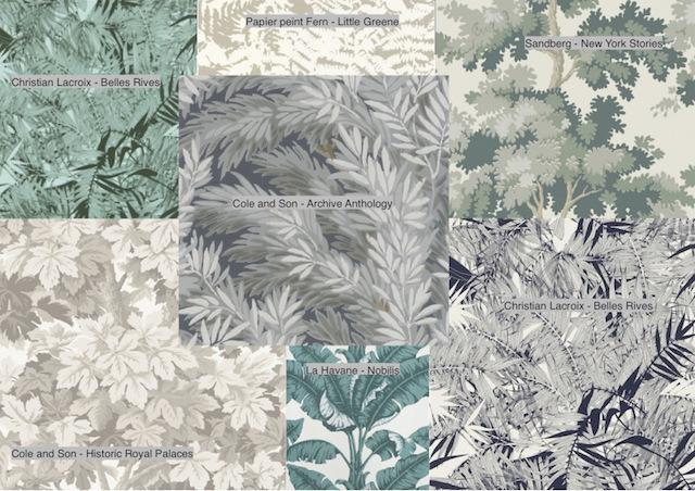 papier-peint-florale